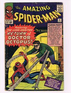 The Amazing Spiderman 11 Doctor Octopus Thanos Vintage Spiderman Comic Books | eBay