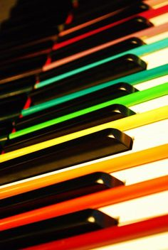 Piano Rainbow by ~auleaf