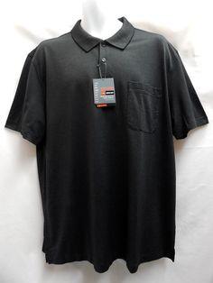 Van Heusen Traveler Luxe Touch Short Sleeved Polo Golf Shirt XL Black NEW #VanHeusen #PoloShirt
