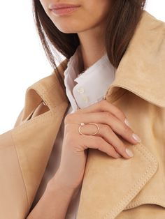 Pearl & yellow-gold ring | Anissa Kermiche | MATCHESFASHION.COM US