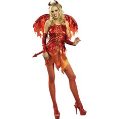 Ladies Devil on Fire #Halloween_Costume, Miss Vampire, Witch #Costume & More . . .   This is a seriously sexy Halloween costume. Slip on this costume and you will start to feel the devil in you come out as you set the party on fire!