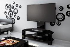nowoczesny stolik rtv, czarny stolik na telewizor, szafka rtv