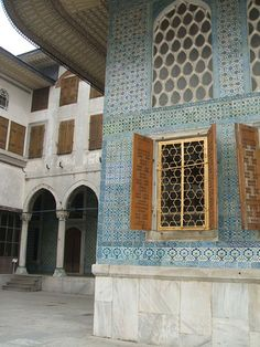 Outside the Harem in Topkapi Palace, Istanbul