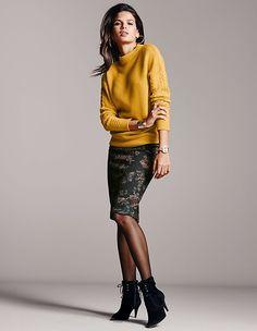 Mode | MADELEINE Mode Österreich Uk Fashion, Urban Fashion, Winter Fashion, Fashion Looks, Womens Fashion, Madeleine Fashion, Warm Autumn, Wool Skirts, Business Outfits