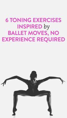 Ejercítate de otras formas y siéntete bella. 6 ejerciciós para tonificar tu figura inspirados en el ballet.