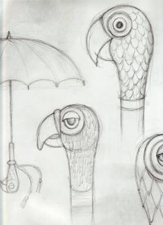 'Mary Poppins'  A sketch of Mary Poppins' parrot-head umbrella.  http://www.latimes.com/entertainment/movies/moviesnow/lat-mary-poppins-la0013222669-20130328-photo.html