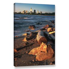 """Zipcode Design Cleveland 3 Photographic Print on Wrapped Canvas Size: 36"""" H x 24"""" W x 2"""" D"""