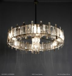 """Mathieu Lustrerie, """"Saturne"""" Chandelier in Rock Crystal 