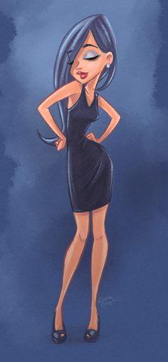 """Lights On"" female character illustration."