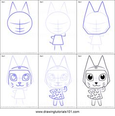How to Draw Meow from Animal Crossing step by step printable drawing sheet to print. Learn How to Draw Meow from Animal Crossing Beginner Drawing, Drawing For Beginners, Drawing Sheet, Animal Games, Step By Step Drawing, Learn To Draw, Animal Crossing, Kids Rugs, Printables