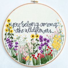 Wildflowers Hand Embroidery Pattern: Beginner by KnottyDickens