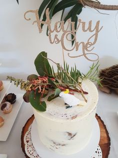 Harry is One Cake Topper: Etsy Native Florals: Hand picked from garden Wiggles Birthday, Baby Boy 1st Birthday Party, Twin First Birthday, Party Favors For Kids Birthday, Birthday Themes For Boys, Birthday Numbers, First Birthday Cakes, Birthday Ideas, Australian Party