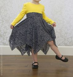 Double Layer Square Circle Skirt Tutorial Could adapt this to a doll skirt. Dress Tutorials, Sewing Tutorials, Sewing Projects, Sewing Clothes, Diy Clothes, Little Girl Dresses, Flower Girl Dresses, Circle Skirt Tutorial, Cut Off Shirt