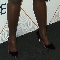 ce78c9854c8 Lupita Nyong o s feet in Jimmy Choo velvet pumps