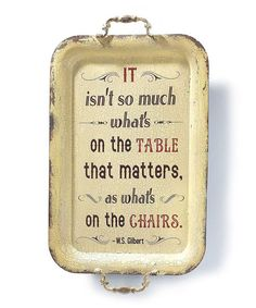 'On the Chairs' Wall Sign #Quotes ☮k☮