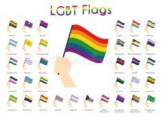 Ilustración acerca Juego de 34 tendencias LGBT, sexuales y de género: Banderas de orgullo Ilustración vectorial. Ilustración de comunidad, color, hombre - 165260492 Straight Ally, Lgbt Flag, Flag Vector, Genderqueer, Rainbow Flag, Transgender, Pride, Illustration, Flags