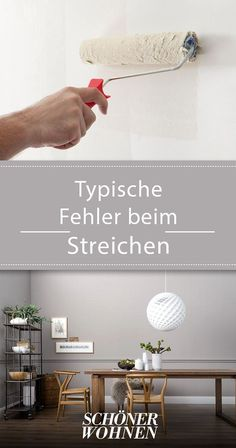 Diese Fehler sollten Sie beim Wände streichen vermeiden Typical mistakes when painting - and how they can be avoided. up tips ideas living Wallpaper Fofos, Ideas Hogar, House Painting, Painting Walls, Easy Paintings, Home And Living, Room Inspiration, Floating Shelves, Decoration
