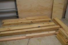 DIY Platform Bed With Floating Night Stands - Diy Furniture Beds Ideen Diy Platform Bed Frame, Diy Bed Frame, Bed Platform, Farmhouse Bedroom Set, Laundry Basket Dresser, Lumber Sizes, Bed Frame Design, Chair Design, Design Design
