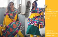 patch work dupatta- ONE OF A KIND- 14DC62