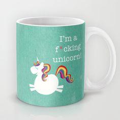 I'm a maturely speaking unicorn!!! Mug by LucyDynamite - $15.00