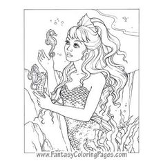 fantasy coloring pages worlds best coloring pages mermaids angels fairies and so - Coloring Pages Mermaids Realistic