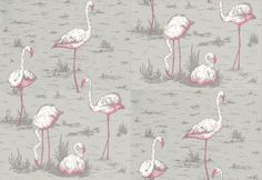 A whole wall of flamingo's. Who wouldn't want that...