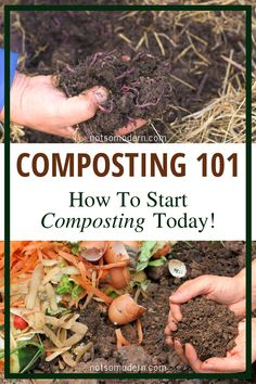 Composting is easy and takes a very small amount of time. The return I get on my time investment is amazing! Nourishment for my garden and sustainable disposal of waste both greatly help my homestead and the environment! Come join me on my website to see How To Start Composting, Composting 101, How To Compost, Homestead Farm, Homestead Gardens, Permaculture, Organic Horticulture, Garden Compost, Garden Pests