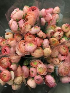 pink ranunculus royal wedding bouquets