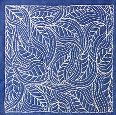 Free Motion Leaves - 365 Days of Machine Quilting Project