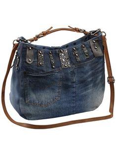 bleu jean Denim Handbags, Leather Handbags, Jean Purses, Diy Bags Purses, How To Make Handbags, Denim Bag, Quilted Bag, Handmade Bags, Fashion Bags