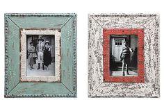 """5x7 Weathered Frames, Asst. of 2 on OneKingsLane.com 11.25"""" x 1"""" x 13.25"""";  each hold a 5"""" x 7"""" photo"""