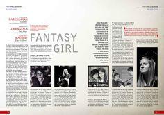 Diseño Editorial, dobles paginas - Marketa Irglova by Boris Vargas Vasquez, via Behance