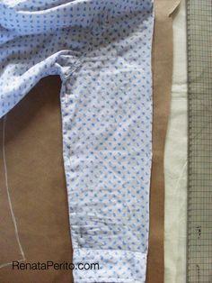 Como copiar o molde de uma roupa pronta