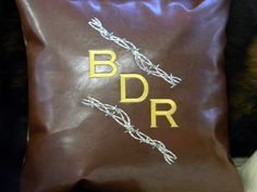 Custom Initial Pillow, Custom Name Pillow, Monogram Pillow, Custom Embroidery, Custom Embroidered Pillow, Name Pillow, Western Decor by SewGoodbyDolores on Etsy