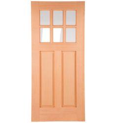 9 lite grille fir screen door firs and screens for Prehung exterior doors with storm door
