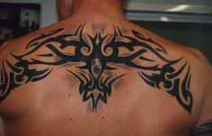 ... Tattoos Tattoo Lettering: Amazing Tribal Upper Back Tattoos For Guys