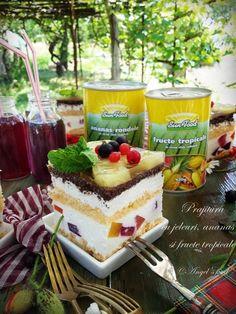Prajitura cu jeleuri, ananas si fructe tropicale Sun Food