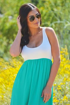 Sunset in Paradise Maxi - Jade from Closet Candy Boutique