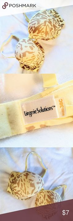 Lingerie Solutions bra size 38C cream animal Good condition. No flaws,  stains, or obvious signs of wear. lingerie solutions Intimates & Sleepwear Bras