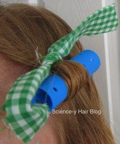 Science-y Hair Blog: Rag Curls, My Version