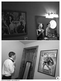 Funny wedding getting ready photo taken at Methven Family Vineyards in wine country, Oregon.