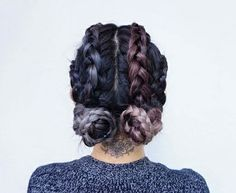 Loving the two buns hairstyle? We've rounded up some double bun hair inspiration that just may make you forget about your old top knot completely. Two Buns Hairstyle, Quick Braided Hairstyles, Trendy Hairstyles, Wedding Hairstyles, Hairstyle Ideas, Festival Hairstyles, Amazing Hairstyles, Wedding Updo, Braided Updo