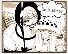 Smile please - Trafalgar D. Water Law and Donquixote Rocinante (Corazon) (Corasan, Cora-san) One Piece