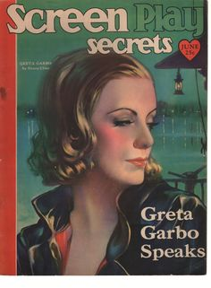 SCREEN PLAY SECRETS GRETA GARBO ON COVER JUNE 1930