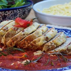 Trained Chef and stay-at-home dad @kitchen_daddy makes one heck of an AWESOME MEATLOAF wrapped in a tasty tomato sauce and topped with melting cheddar cheese. This hearty dish will put a smile of everybody's face. Head on over to http://ift.tt/1KP3TxH to watch the video NOW! #meatloaf #tomato #cheese #hearty #delicious #instafood #familyfood  by jamiesfoodtube