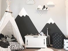 Ain't no mountain high enough to keep Jack from youuuuuu by Baby Bedroom, Baby Boy Rooms, Nursery Room, Bedroom Wall, Kids Bedroom, 5 Year Old Boys Bedroom, Bedroom Decor, Kid Spaces, Baby Decor