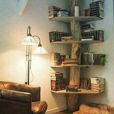 I would like to make one of these with a mesquite trunk and redwood or cedar shelves.
