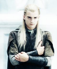 Legolas<3 He's got the stare down, but he needs a little work on how to cross his arms