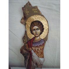 Religious Icons, Religious Art, Christian Prayers, Orthodox Icons, Pebble Art, Stone Painting, Painted Rocks, Wood Crafts, Decoupage