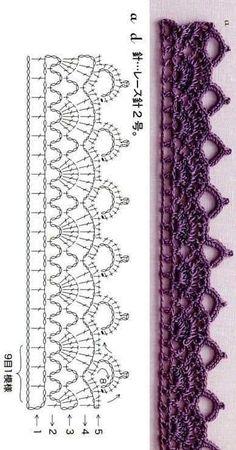 Crochet edging braid 1 patrn de ribete de ganchillo diy and crafts braid crafts crochet diy edging ganchillo patrn ribete basic crochet materials to get started Crochet Border Patterns, Crochet Lace Edging, Crochet Diagram, Crochet Chart, Diy Crochet, Crochet Doilies, Knitting Patterns, Crochet Braid, Crochet Edgings